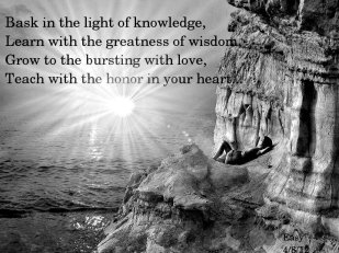Learning what is truth for you.