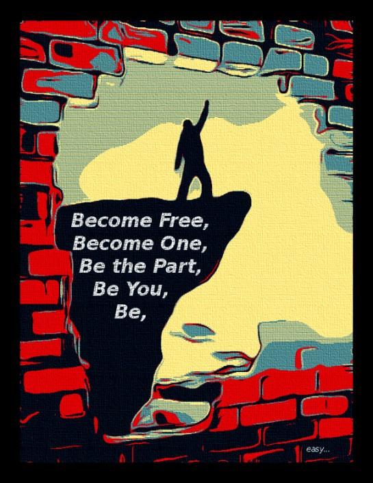 Break free of ego. In refuse bin forgotten, Now we go forward....